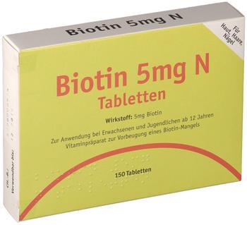 Biotin 5 mg N Tableten (150 Stk.)