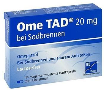 TAD Pharma OME TAD 20 mg b.Sodbrennen magensaftres.Hartkaps. 14 St
