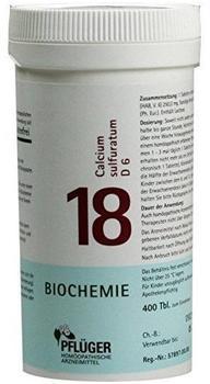 A. Pflüger Biochemie 18 Calcium Sulfurat.D 6 Tabletten (400 Stk.)