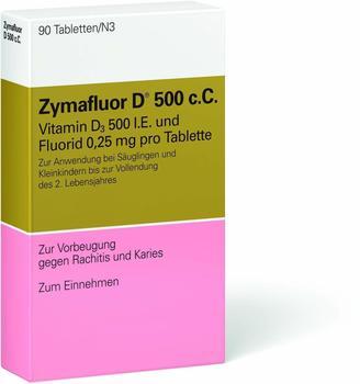 MEDA Pharma GmbH & Co KG ZYMAFLUOR D 500 C C Tabletten 90 St