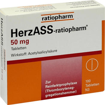 Herz ASS 50 mg Tabletten (100 Stk.)