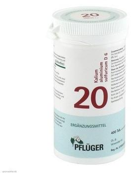 Homöopathisches Laboratorium Alexander Pflüger GmbH & Co KG Biochemie Pflüger Nr. 20 Kalium-Aluminium sulf D 6 Tabletten 400 St.