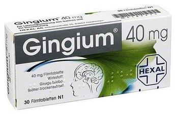 Hexal GINGIUM 40 mg Filmtabletten 30 St