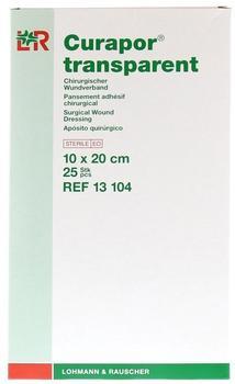 Lohmann & Rauscher Curapor Wundverband Transparent 10 x 20 cm Steril (25 Stk.)