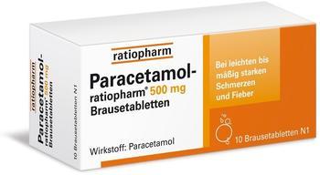 ratiopharm PARACETAMOL ratiopharm 500 mg Brausetabletten 10 St