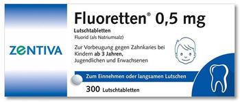 Zentiva Pharma GmbH FLUORETTEN 0,5 mg Tabletten 300 St