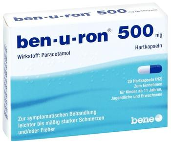 Bene Arzneimittel GmbH BEN-U-RON 500 mg Kapseln 20 St