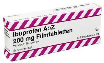 ABZ-PHARMA IBUPROFEN AbZ 200 mg Filmtabletten 10 St