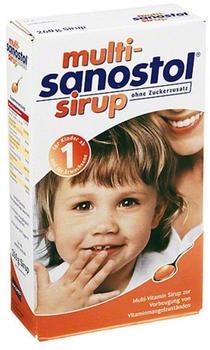 Multi Sanostol Sirup ohne Zuckerzusatz (260 g)