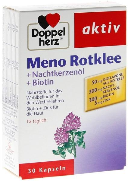 Queisser DOPPELHERZ Meno Rotklee+Nachtkerzenöl+Biotin Kaps. 30 St