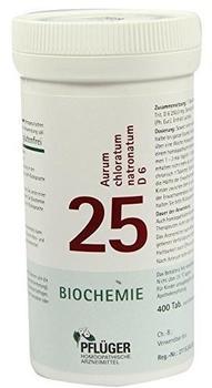 A. Pflüger Biochemie Pflueger 25 Aurum Chlor.Natr.D 6 Tabletten (400 Stk.)