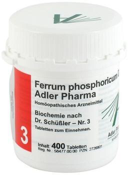 Adler Pharma Biochemie 3 Ferrum Phosph. D 12 Tabletten (400 Stk.)