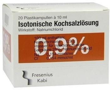 Fresenius Kochsalzloesung 0,9% Pl. Fresenius Amp. (20 x 10 ml)