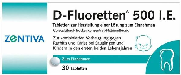 Zentiva Pharma GmbH D FLUORETTEN 500 Tabletten 30 St