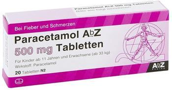 ABZ-PHARMA PARACETAMOL AbZ 500 mg Tabletten 20 St
