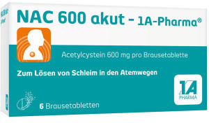 1 A Pharma NAC 600 akut Brausetabletten 6 St.