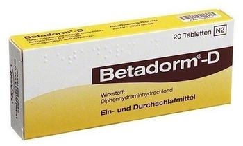 Betadorm D Tabletten (20 Stk.)
