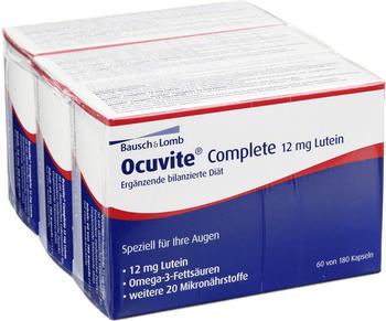Bausch & Lomb OCUVITE Complete 12 mg Lutein Kapseln (180 Stück)