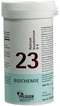 A. Pflüger Biochemie 23 Natrium Bicarbon.D 6 Tabletten (400 Stk.)
