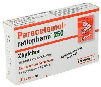 Ratiopharm PARACETAMOL ratiopharm 250 mg Kleinkdr.-Suppos. 10 St