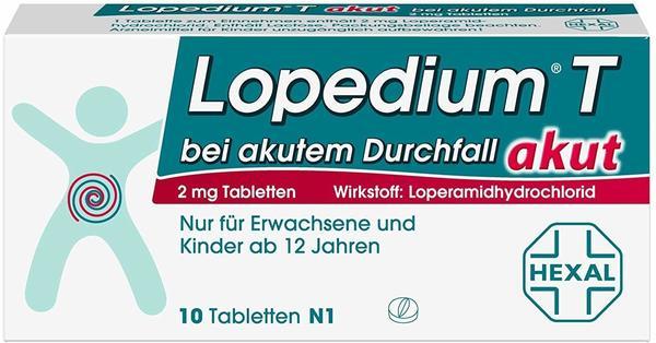 Hexal LOPEDIUM T akut bei akutem Durchfall Tabletten 10 St