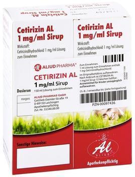 Cetirizin Al 1 mg/ml Sirup (2 x 75 ml)