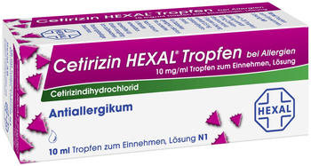 Cetirizin Tropfen b. Allergien (10 ml)