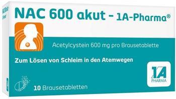 Nac 600 Akut Brausetabletten (10 Stk.)