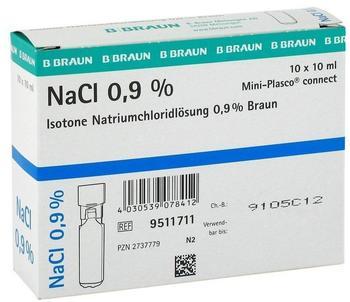 B. Braun Kochsalzlösung 0,9% Miniplasco connect (10 x 10 ml)