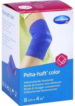 Hartmann Peha-haft color Fixierbinde latexfrei 8 cm x 4 m blau