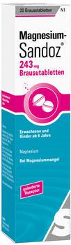 Magnesium Sandoz 243 mg Brausetabletten (20 Stk.)