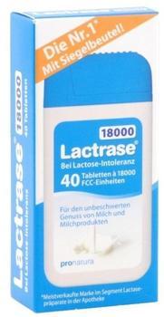 Pro Natura Lactrase 18000 FCC Tabletten Klickspender (40 Stk.)
