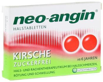 Neo-Angin Kirsche zuckerfrei Halstabletten (12 Stk.)