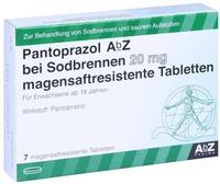 AbZ Pharma GmbH PANTOPRAZOL AbZ bei Sodbrennen 20 mg msr.Tabl. 7 St