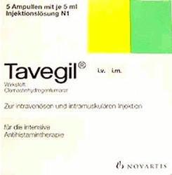 Tavegil Injektionslösung 2 mg/2 ml Ampullen (5 x 2 ml)