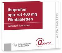 Actavis Deutschland GmbH + Co KG Ibuprofen apo-rot 400 mg Filmtabletten, 20 St