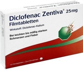 Zentiva Pharma GmbH DICLOFENAC Zentiva 25 mg Filmtabletten 10 St