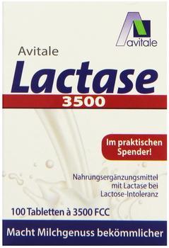 Avitale Lactase 3.500 FCC Tabletten im Klickspender (100 Stk.)