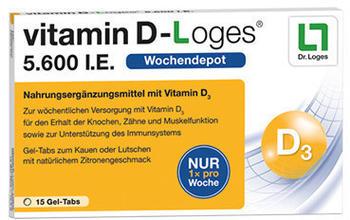 Dr. Loges Vitamin D Loges 5.600 I.E. Gel-Tabs (15 Stk.)
