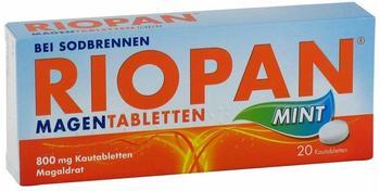 Dr. Kade Riopan Magen Tabletten Mint 800mg Kautabletten 20 St.