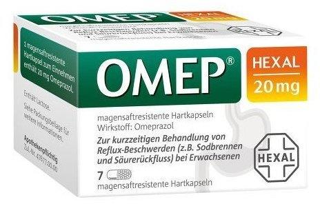 Hexal OMEP HEXAL 20 mg magensaftresistente Hartkapseln 7 St