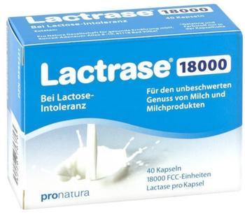 Pro Natura Lactrase 18000 FCC Kapseln (40 Stk.)