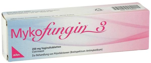 Mibe MYKOFUNGIN 3 Vaginaltabletten 200 mg 3 St