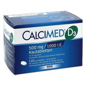 Calcimed D3 500 mg/1000 I.E. Kautabletten (120 Stk.)