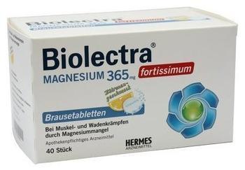 Biolectra Magnesium 365 fortissimum Zitrone Brausetabletten (40 Stk.)