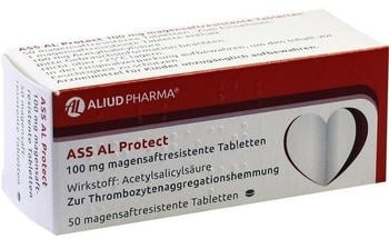 ASS Al Protect 100 mg magensaftresistente Tabletten (50 Stk.)
