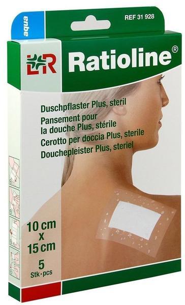 Lohmann & Rauscher Ratioline aqua Duschpflaster Plus 10 x 15 cm steril (5 Stk.)