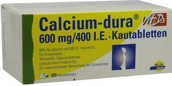 Calcium Dura Vit D3 600 mg/400 I.E. Kautabletten (120 Stk.)