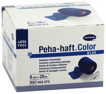 Hartmann Peha Haft Color Fixierbinde latexfrei 6 cm x 20 cm Blau