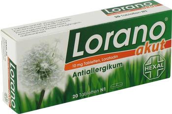 Hexal Lorano akut Tabletten 20 St.
